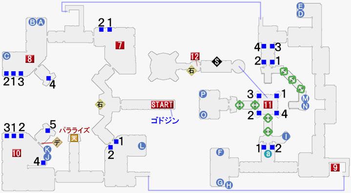 火の試練神殿イグレインの攻略マップ
