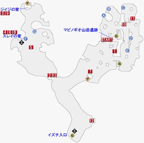 天族の社イズチのマップ