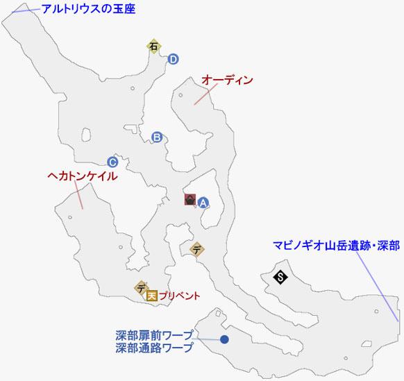 始まりの村カムランのマップ