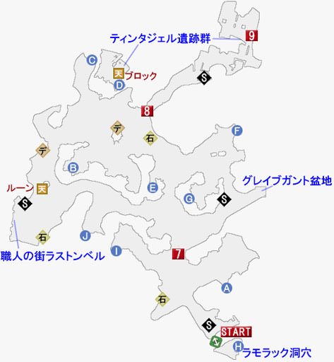 ヴァーグラン森林の攻略マップ