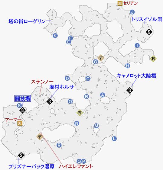 ザフゴット原野のマップ