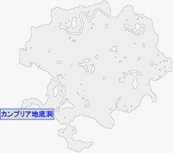 カンブリア地底洞の場所マップ
