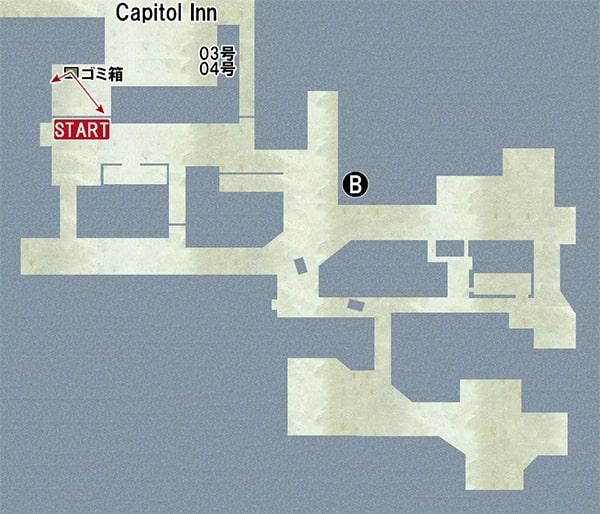 Map B:ハロウィンショップの場所