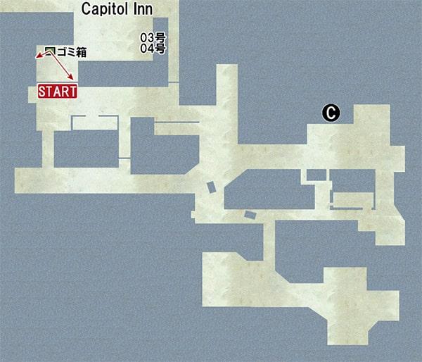Map C:ガソリンスタンドの場所