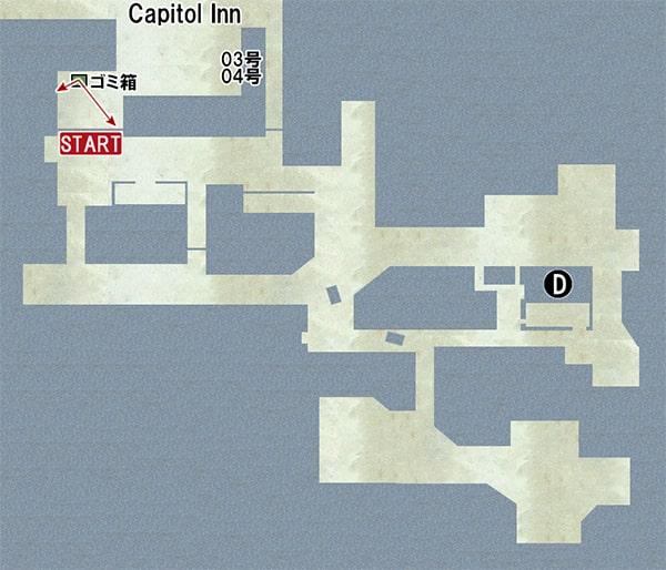 Map D:ガソリンスタンドの場所