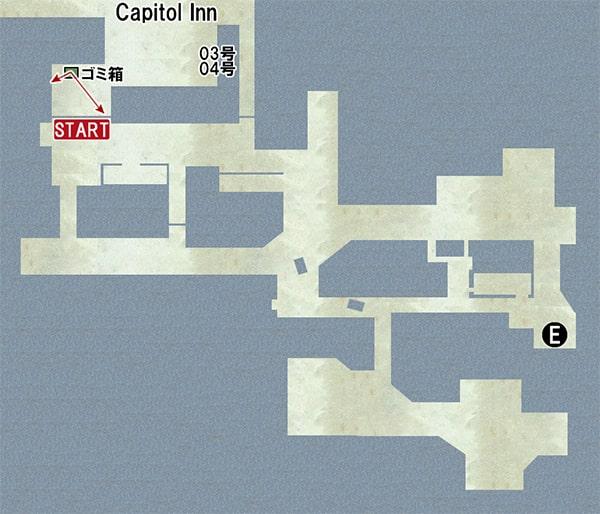 Map E:トラックの場所