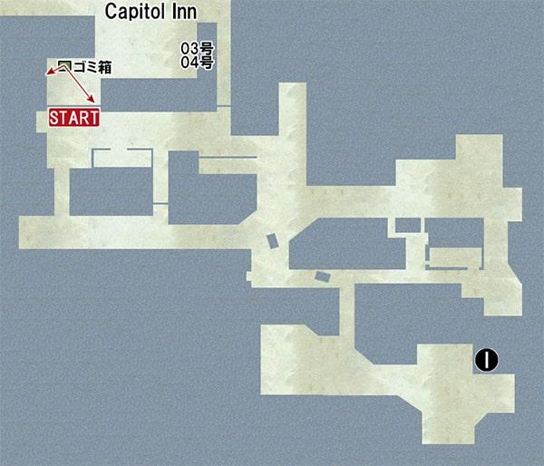 Map I:喫茶店、オフィスの場所