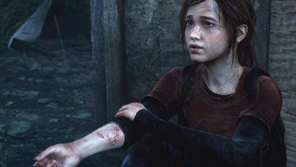 エリーの右腕が感染者に噛まれた傷跡