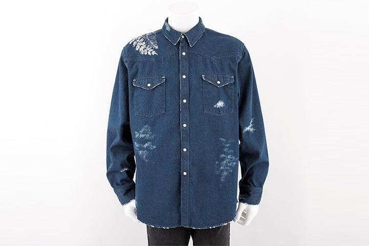 ラストオブアス2デザインのデニムシャツ