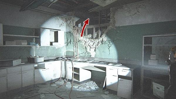 手術室の壁を攻略ルート