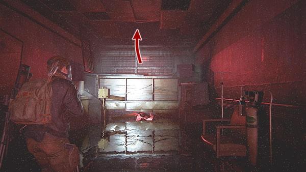 感染者が逃げた屋根裏の場所