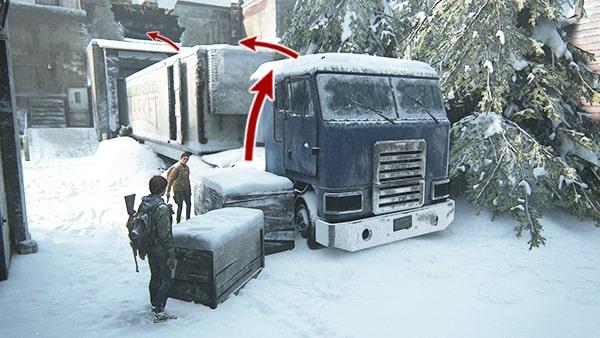トラックの登り方図