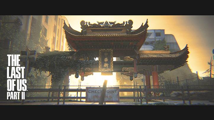 ラストオブアス2のフォトモードの中華街の風景