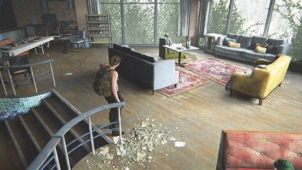 水族館の2階にある部屋の風景
