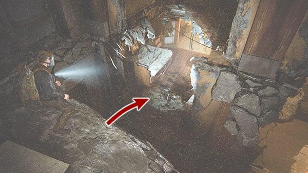 下層へ飛び降りる場所の画像