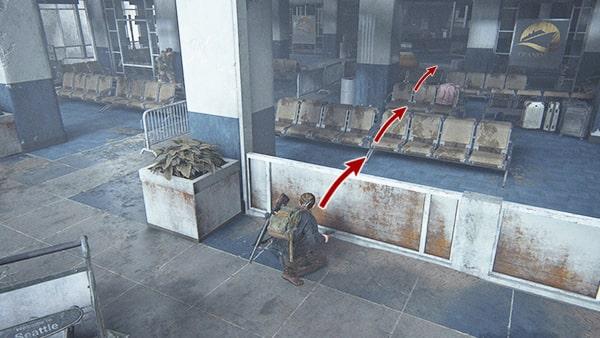 建物1階での交戦の様子