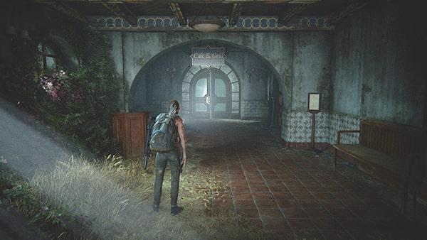目的地の茶色ドアの場所