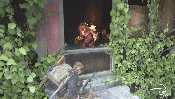 焼夷弾で感染者をまとめて燃やしている状況