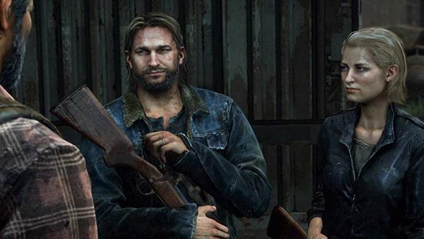 ジャクソンでジョエルが、トミーとマリアに会うシーン。