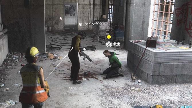 ペリー・ハリス再開発地で人質を救助するシーン