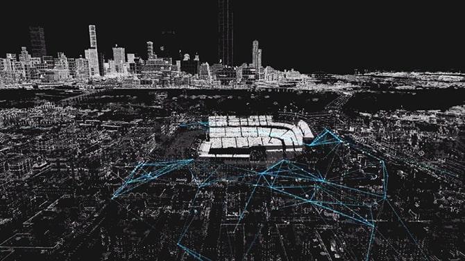 ctOSで制御したシカゴの街並み