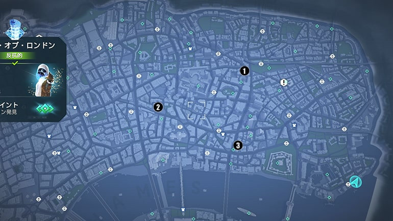 シティ・オブ・ロンドン地区の酒場の場所