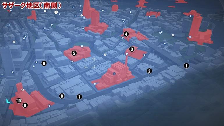ETOの入手場所マップ、サザーク地区の南側