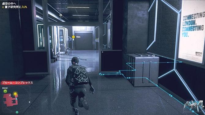 エレベーターがある廊下エリア