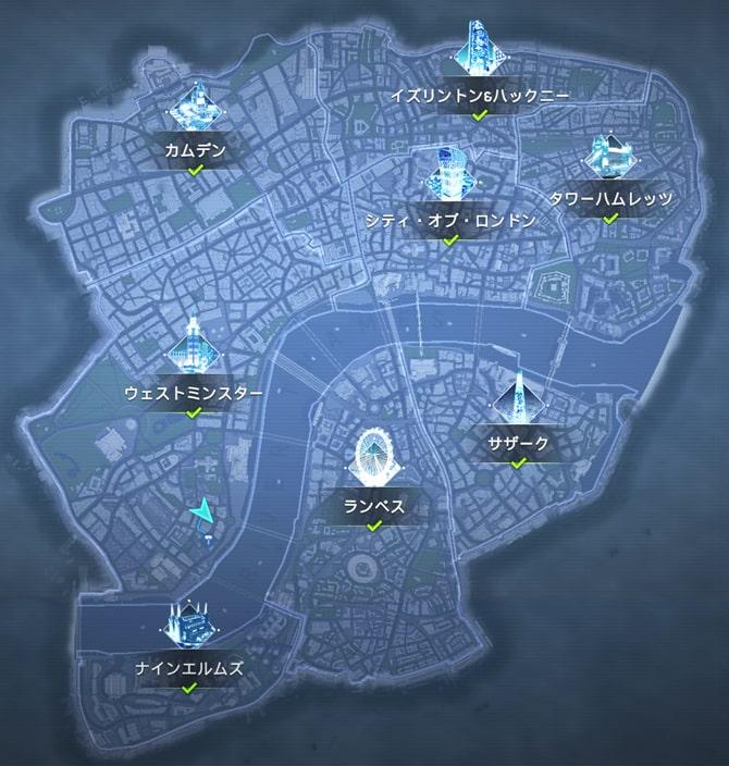 ロケーションのマップ