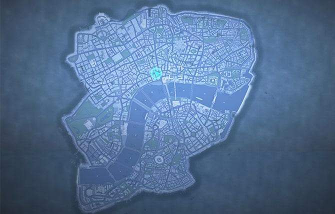 ウォッチドッグスレギオンの全体マップ