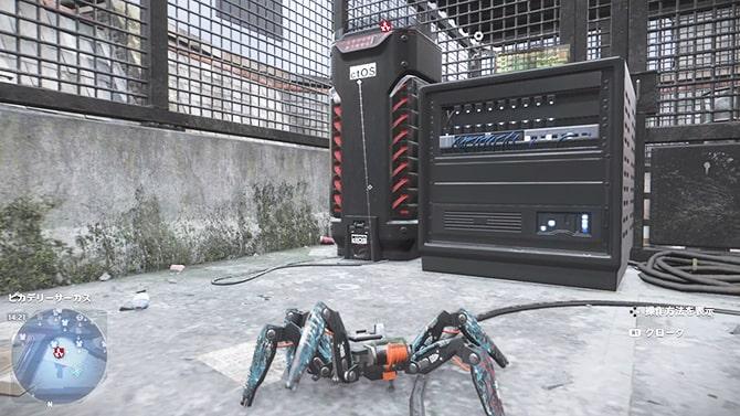 スパイダーボットでハッキングする様子