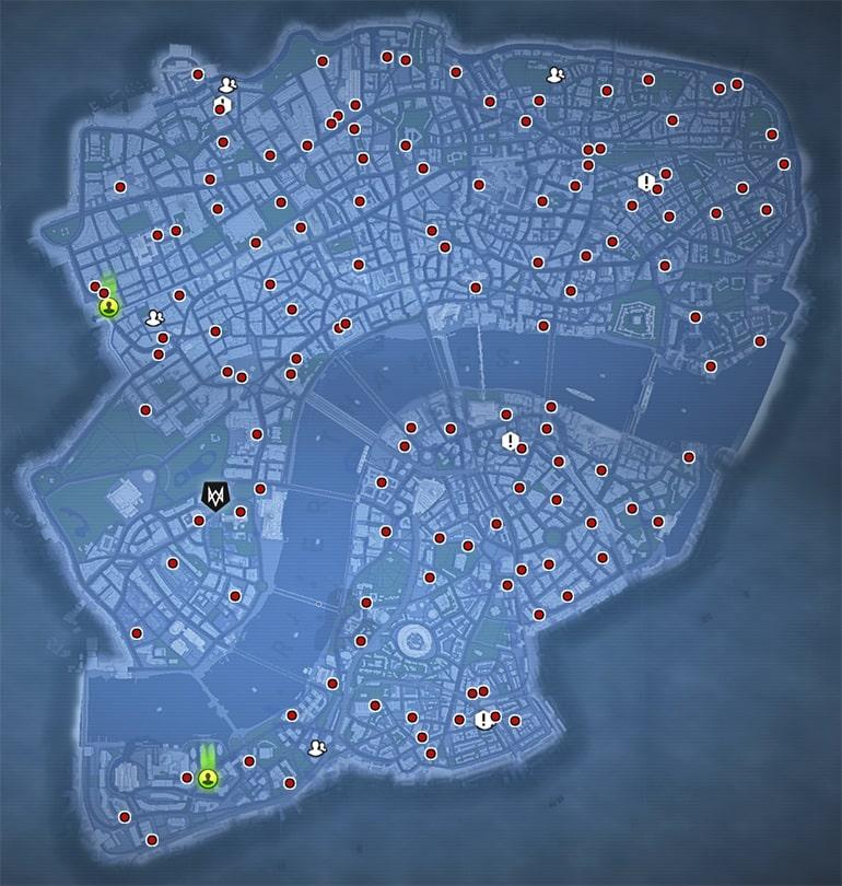 パーセルフォックスを受けれる場所のマップ