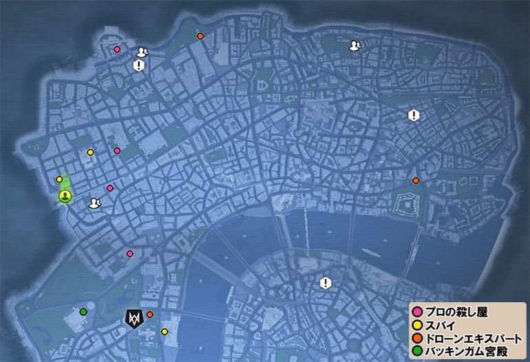 工作員の居場所マップ