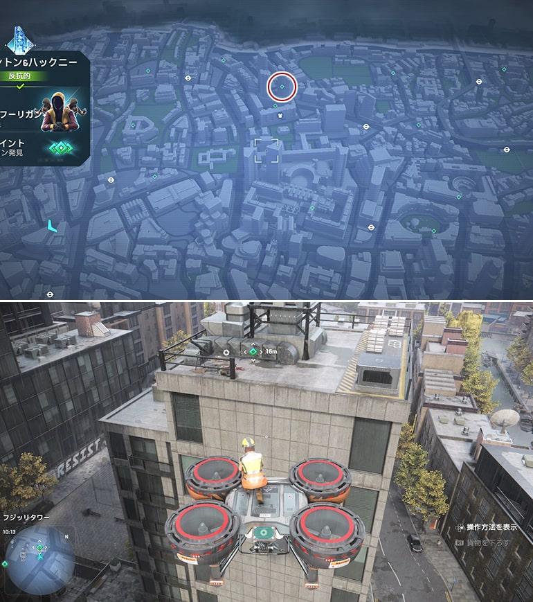 テックポイント場所のマップ - フジッリタワー