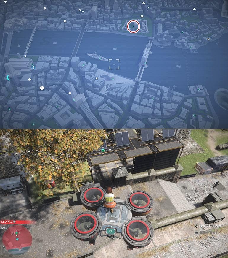 テックポイント場所のマップ - ロンドン塔