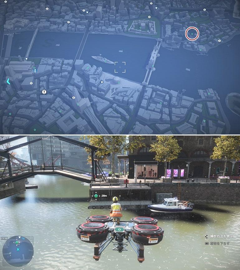 テックポイント場所のマップ - テムズ・ランディング