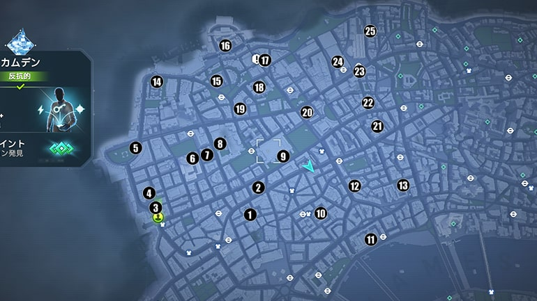 テックポイントの入手場所マップ