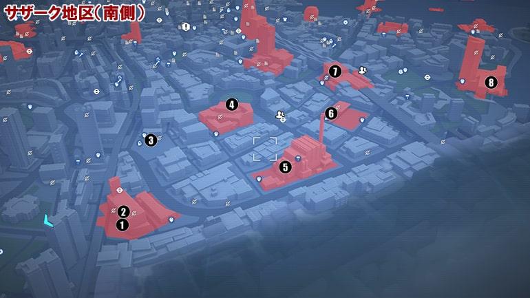 文書ファイルの入手場所マップ、サザーク地区の南側