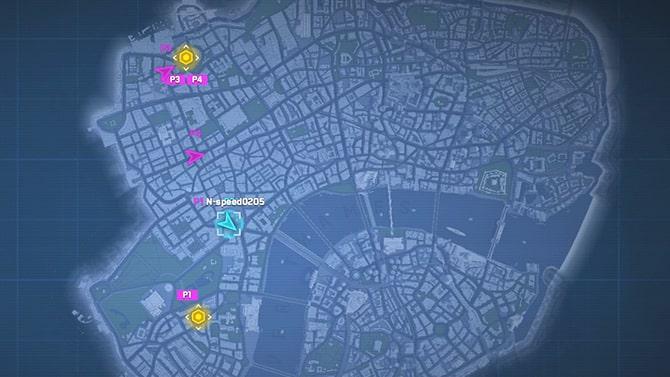 目的地の場所マップ