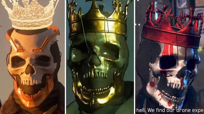 三種類のスカルマスク