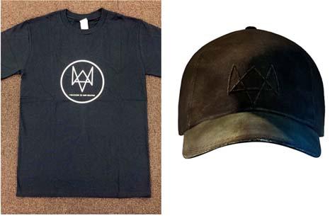 ウォッチドッグスのTシャツと帽子