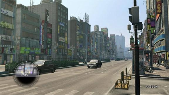 神室町の街並み