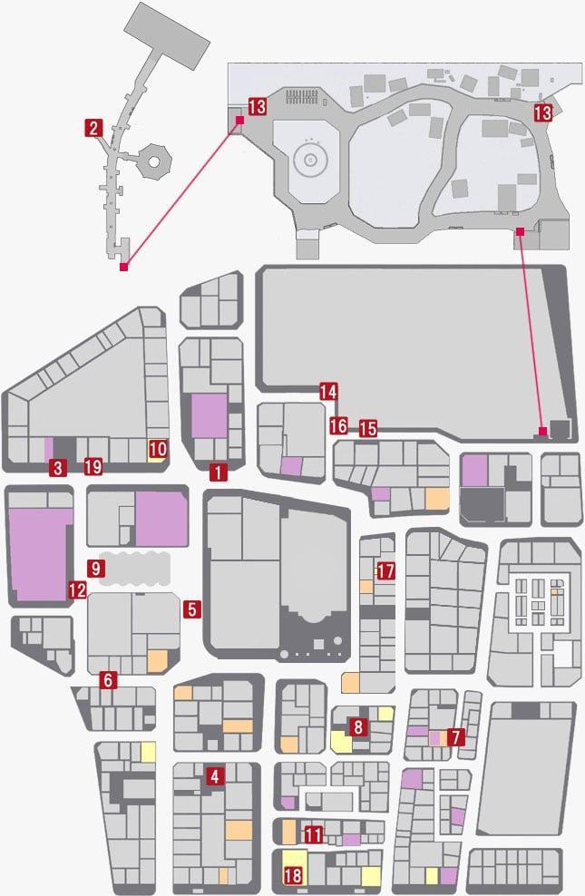 ヒートアクションを発動できる場所のマップ