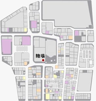 賭場の場所のマップ