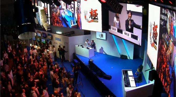 東京ゲームショウ2015のセガブースの会場