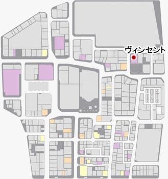 ヴィンセントの場所のマップ