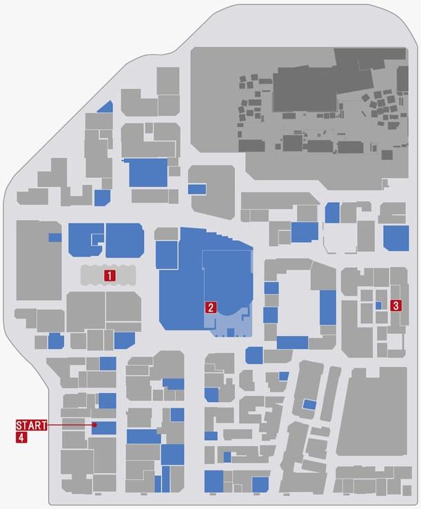 神室町の『第十章 生き残り』の攻略順マップ