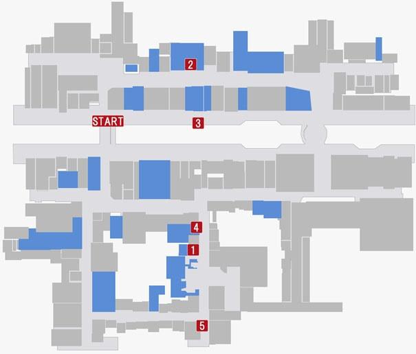 『第十二章 大阪の城』の攻略順マップ