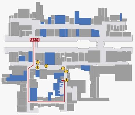 スナック葵までのルートマップ