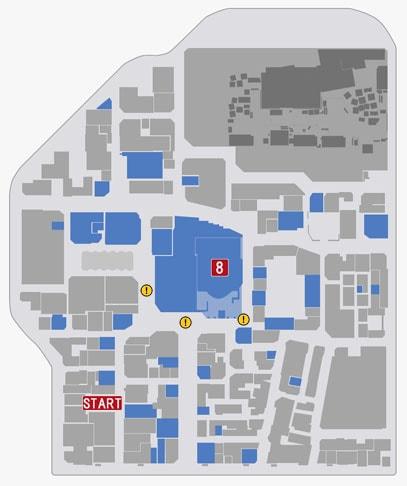 倉橋渉とバトルでの神室町(ミレニアムタワー)のマップ
